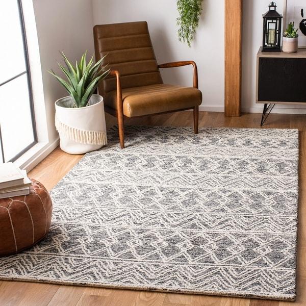 Safavieh Handmade Micro-Loop Shikha Transitional Wool Rug