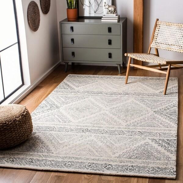 Safavieh Handmade Micro-Loop Damasa Transitional Wool Rug