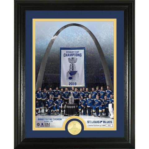 St. Louis Blues Banner Raising Ceremony Bronze Coin Photo Mint