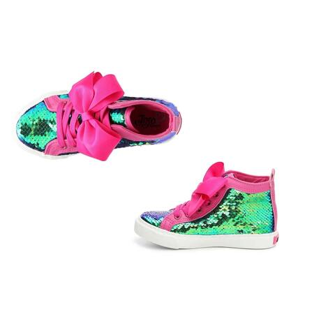 JoJo Siwa Sneakers - Green Sequin Size 1