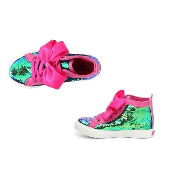 JoJo Siwa Sneakers - Green Sequin Size