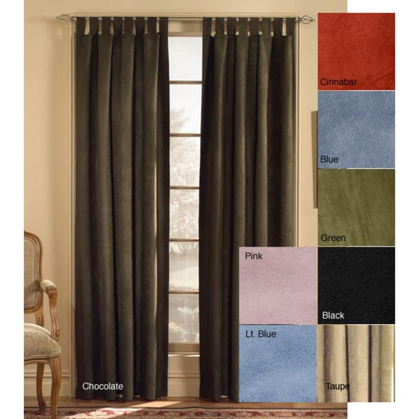 Microsuede Tab Top 95-inch Curtain Panel