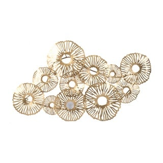 Luminous 42-inch Delicate Gold Wall Art