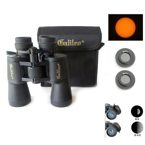 8-24x50mm Zoom Binocular, Shoulder case & Solar Filter Caps