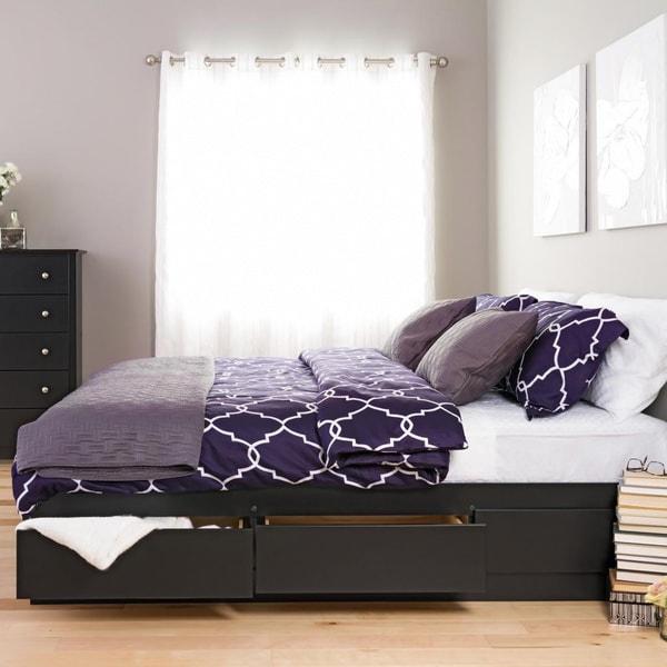 Black King Mate's 6-drawer Platform Storage Bed