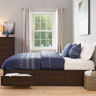 King Sized 6-drawer Platform Storage Bed in Espresso