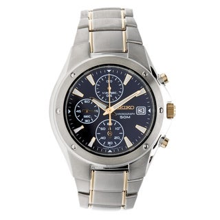 Seiko Men's Two-Tone Chronograph Quartz Watch