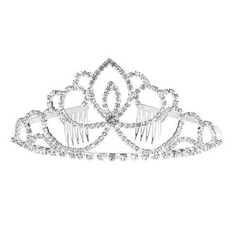 """Rhinestone Crystal Tiara for Wedding, Bridal, Princess Crown, 5 x 2.2 x 5.5"""""""
