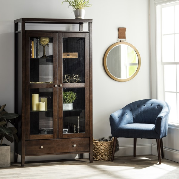 Aristo Halifax Brown 2 Door Tall Cabinet