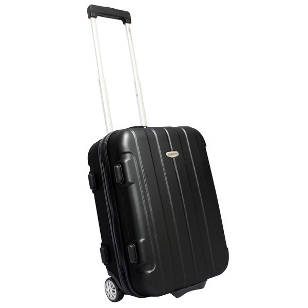 Orange Travelers Choice Rome 20 Inch Hardside Rolling Carry-On