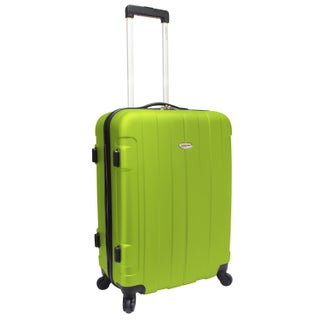 Traveler's Choice Rome 24-inch Medium Hardside Spinner Upright Suitcase (Option: Green)