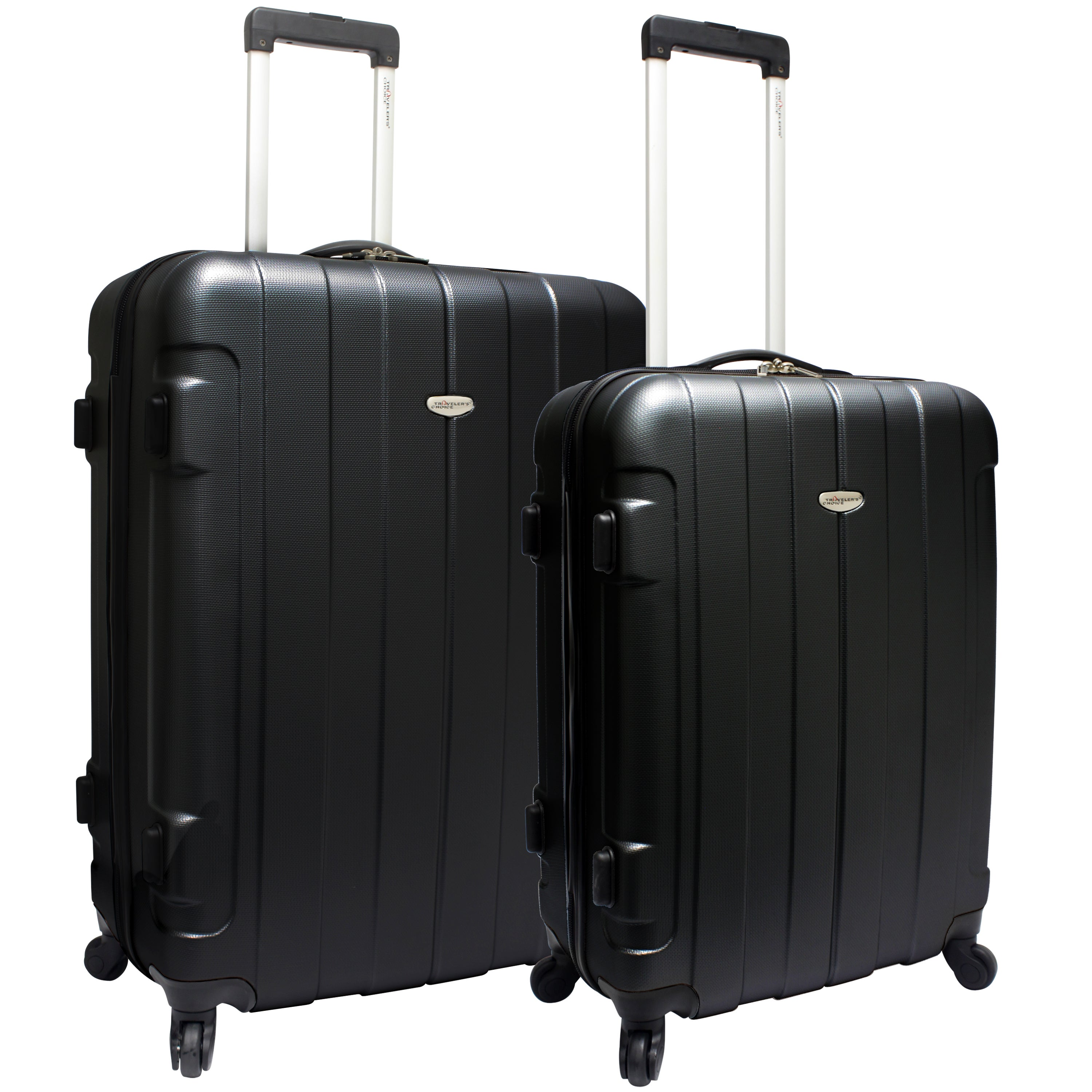 Traveler's Choice Rome 2-piece Hardside Spinner Checked L...