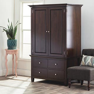 Aristo Four drawer Armoire. Contemporary Armoires   Wardrobe Closets For Less   Overstock com