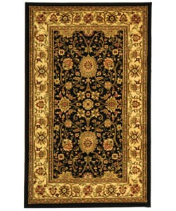 Safavieh Lyndhurst Traditional Oriental Black/ Ivory Rug (5'3 x 7'6)