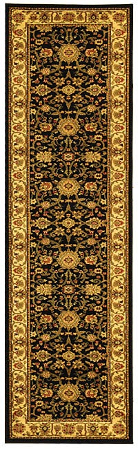 Safavieh Lyndhurst Traditional Oriental Black/ Ivory Runner (2'3 x 8)