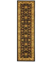"Safavieh Lyndhurst Traditional Oriental Black/ Ivory Runner (2'3 x 12') - 2'3"" x 12' Runner"