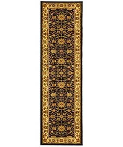 Safavieh Lyndhurst Traditional Oriental Black/ Ivory Runner (2'3 x 12')
