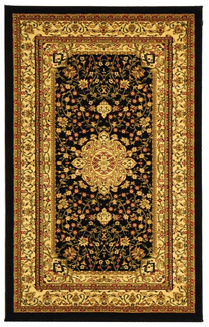 Lyndhurst Collection Mashad Black/ Ivory Rug (33 X 53) (BlackPattern OrientalMeasures 0.375 inch thickTip We recommend the use of a non skid pad to keep the rug in place on smooth surfaces.All rug sizes are approximate. Due to the difference of monitor