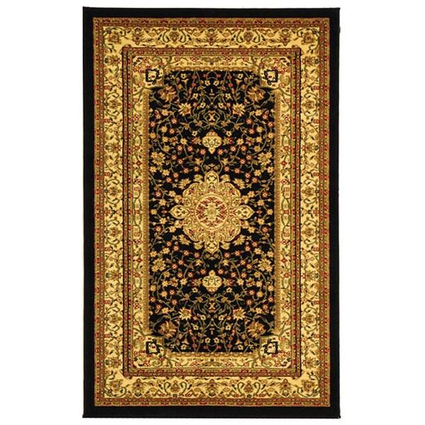 Safavieh Lyndhurst Collection Mashad Black/ Ivory Rug (33 x 53