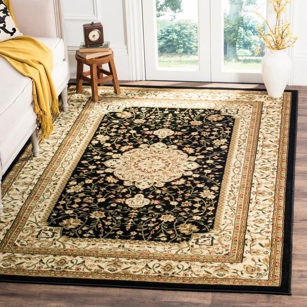 Safavieh Lyndhurst Traditional Oriental Black/Ivory Rug - 8' x 11'