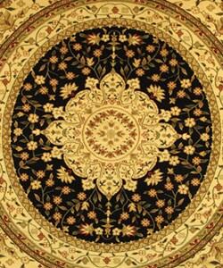 Safavieh Lyndhurst Traditional Oriental Black/ Ivory Rug (5' 3 Round) - Thumbnail 1