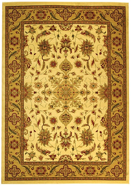 Safavieh Lyndhurst Traditional Oriental Ivory/ Tan Rug - 8' x 11'