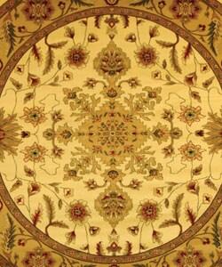 Safavieh Lyndhurst Traditional Oriental Ivory/ Tan Rug (5' 3 Round)