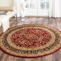 Safavieh Lyndhurst Traditional Oriental Red/ Black Rug - 8' x 8' Round