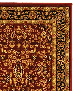 Safavieh Lyndhurst Persian Treasure Red/ Black Runner (2'3 x 8')