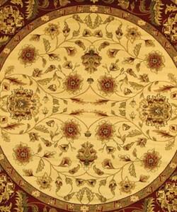 Safavieh Lyndhurst Traditional Tabriz Ivory/ Red Rug (5' 3 Round) - Thumbnail 1