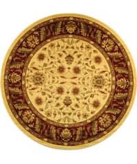 "Safavieh Lyndhurst Traditional Tabriz Ivory/ Red Rug - 5'3"" x 5'3"" round"