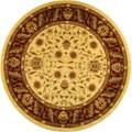 Safavieh Lyndhurst Traditional Tabriz Ivory/ Red Rug (5' 3 Round)