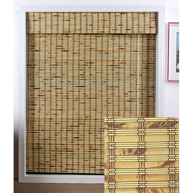 overstock roman shades chicology belgian arlo blinds rustique bamboo roman shade 70 in 74 in shop in