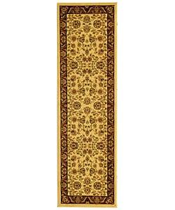 Safavieh Lyndhurst Traditional Tabriz Ivory/ Red Runner Rug - 2'3 x 8' - Thumbnail 0