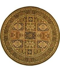 Safavieh Lyndhurst Traditional Oriental Green/ Multi Rug - 5' 3 Round