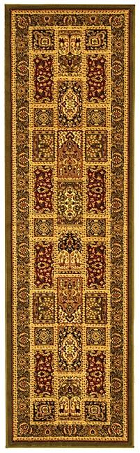 "Safavieh Lyndhurst Traditional Oriental Green/ Multi Runner (2'3 x 12') - 2'3"" x 12'"