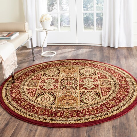 "Safavieh Lyndhurst Traditional Oriental Red/ Multi Rug - 5'3"" x 5'3"" Round"