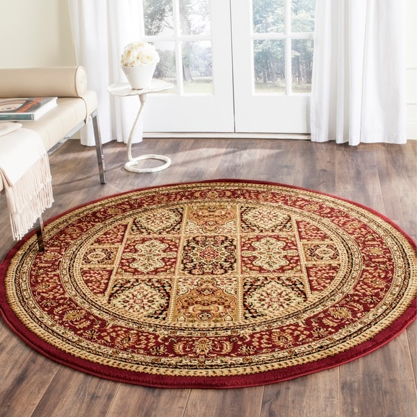 Safavieh Lyndhurst Traditional Oriental Red/ Multi Rug (8' Round)