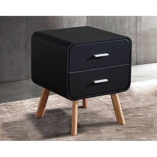 Greatime NL2450 Modern Two Drawers Nighstand