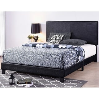 Copper Grove Fontaneda Black Faux Leather-upholstered Platform Bed