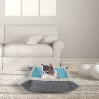 Link to Kinbor Felt Cat Bed 4-in-1 Feline Cave, Self Warming Pet Bed Pad, Kitty Sleeping Mat Similar Items in Cat Car Travel
