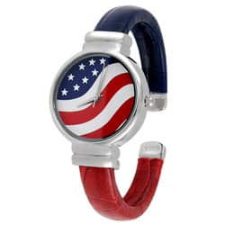 Geneva Platinum American Flag Cuff Watch|https://ak1.ostkcdn.com/images/products/2971247/Geneva-Platinum-American-Flag-Cuff-Watch-P11130422a.jpg?impolicy=medium