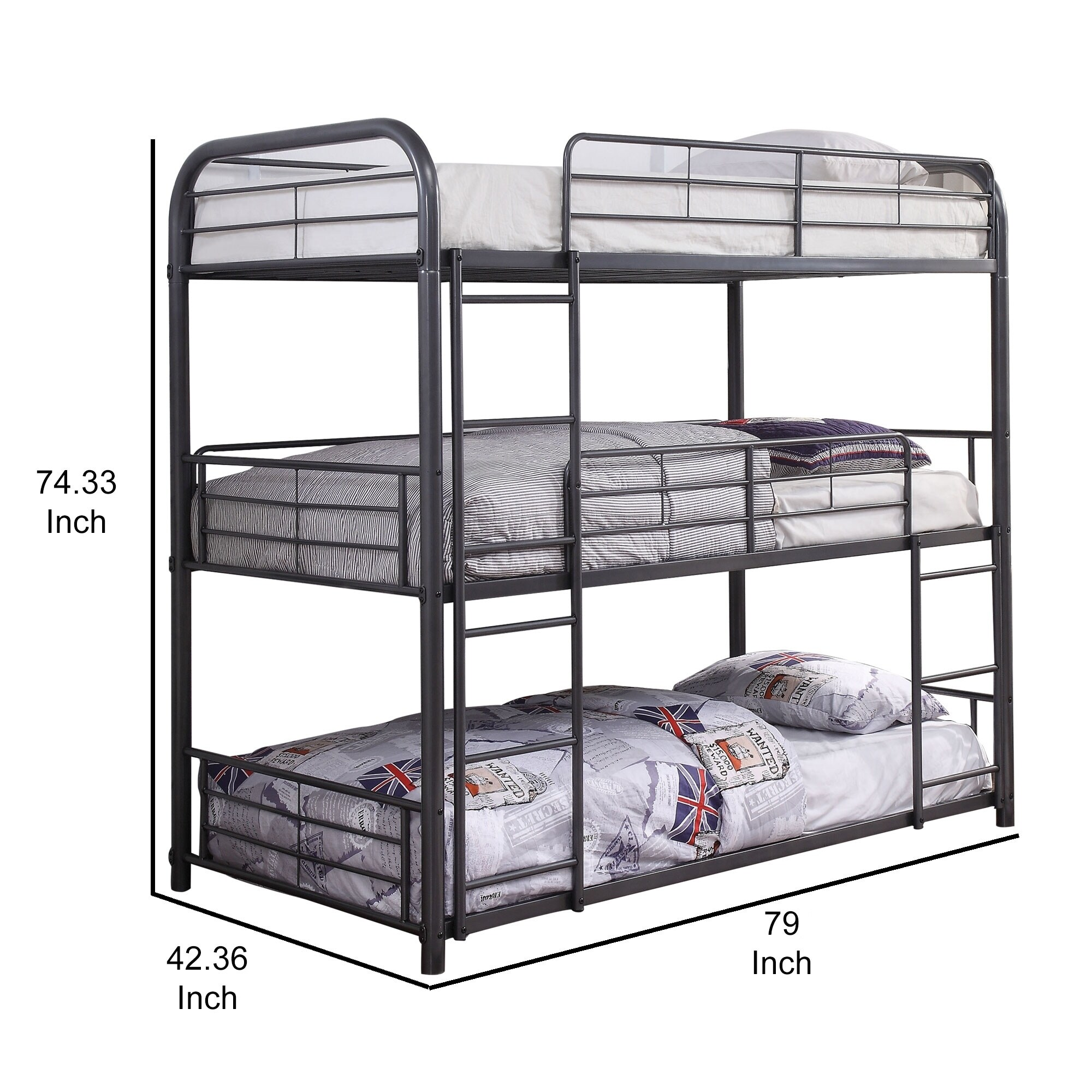 Size Bunk Bed With Built In Ladders