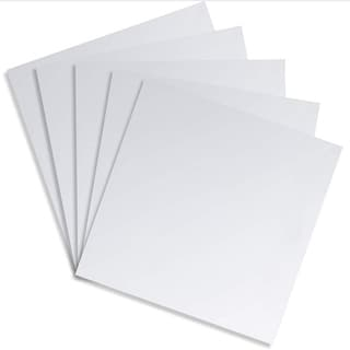 Juvale Square Adhesive Mirror Sheet Tiles for Wall Decor (5 Count), 11.8 Inches - Silver