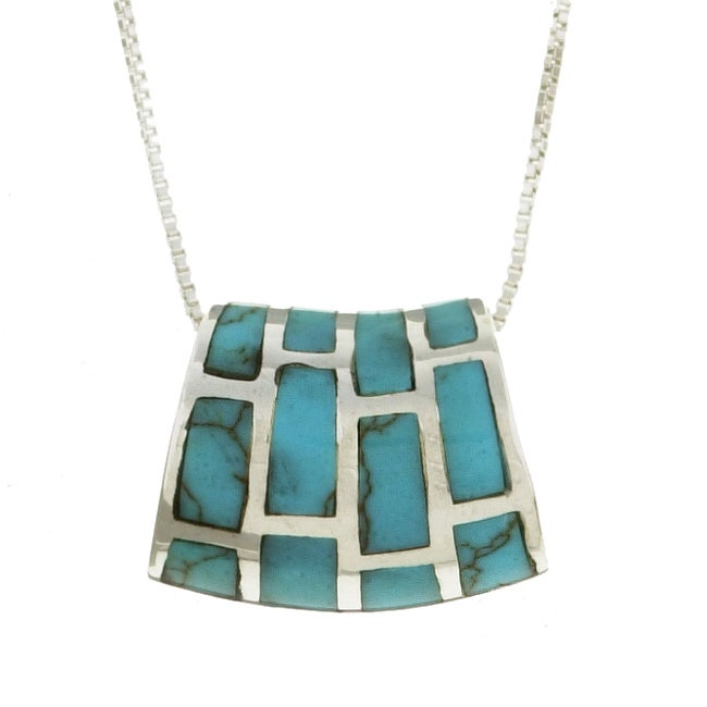 Sterling Silver Turquoise Slide Necklace