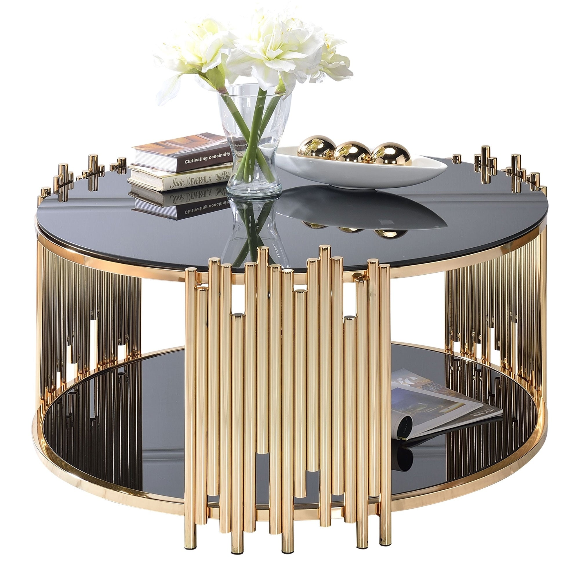 Modern Metal And Gl Coffee Table