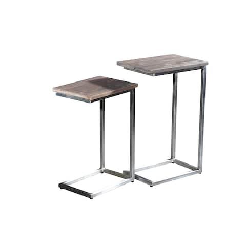 Carbon Loft Hardwicke C-shaped Tray Tables (Set of 2)