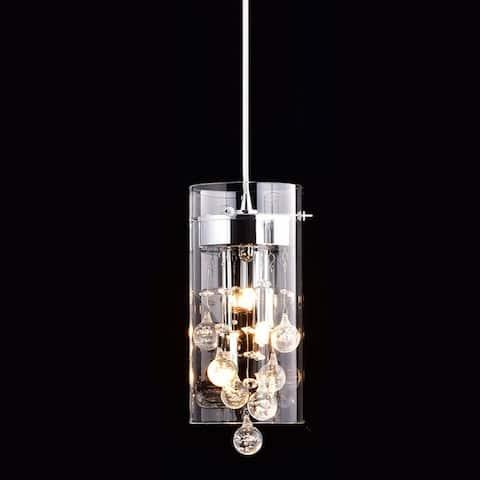 Capri Modern G9 Glass Pendant Crystal Hanging Light Fixture
