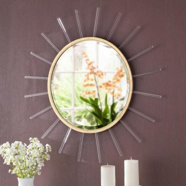 """Pekalb Sunny Round Wall Mirror - 34"""" Dia."""