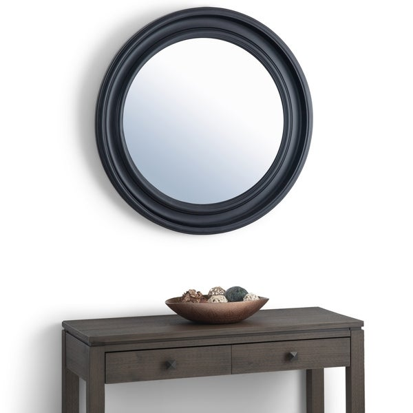 WYNDENHALL Quinn 33 inch x 33 inch Oval Round Decor Mirror - 33 x 33 inch wide